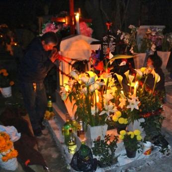 Prayers at the gravesite